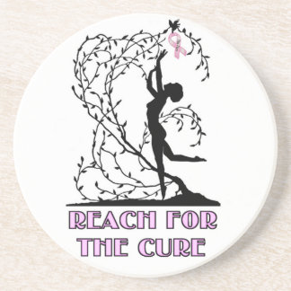 Reach for the Cure Drink Coasters