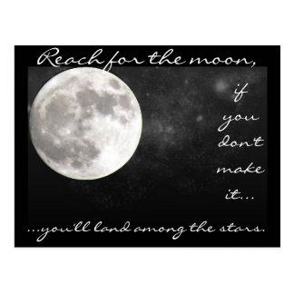 Reach for the moon..... postcard
