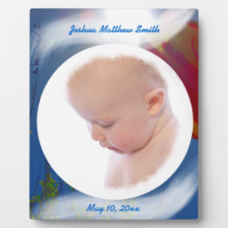 Reach for the Sky BABY BOY Pers. Photo Plaque