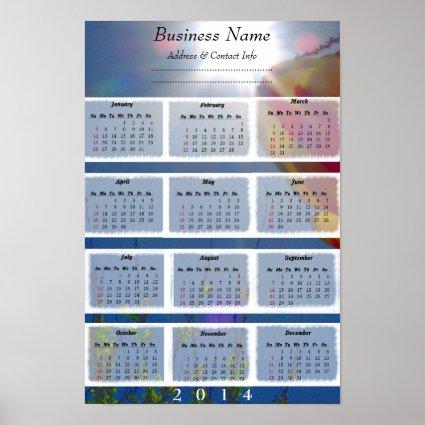 Reach for the Sky Custom Business Wall Calendar Print
