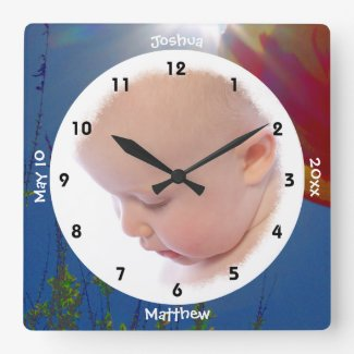 Reach for the Sky Personalized Photo Wall Clock