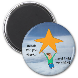 Reach for the stars... 2 inch round magnet