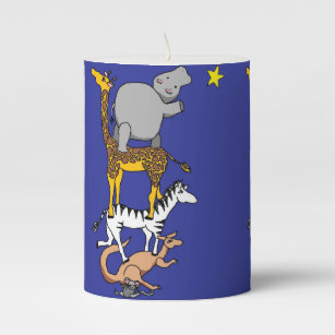 reach for the stars animals candle