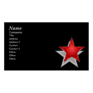 Reach For The Stars Double-Sided Standard Business Cards (Pack Of 100)
