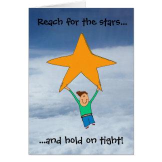Reach for the stars... card