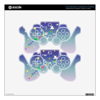 Reach for the Stars Cute Bird Bunting PS3 Controller Decals