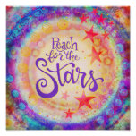 """""""Reach for the Stars"""" Inspirivity Poster"""
