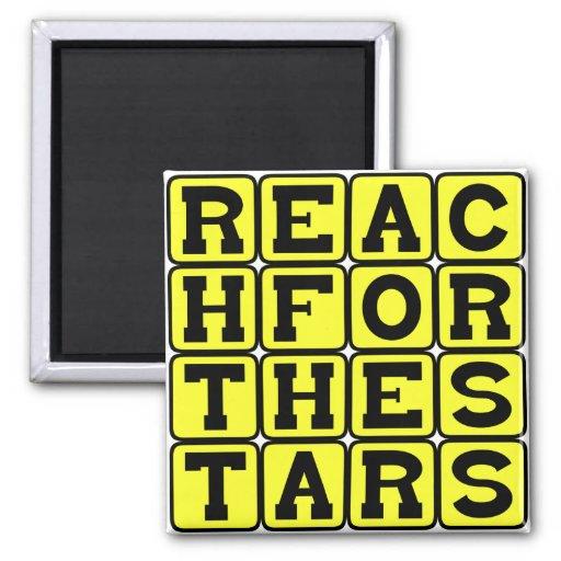 Reach For The Stars, Motivational Phrase Fridge Magnets