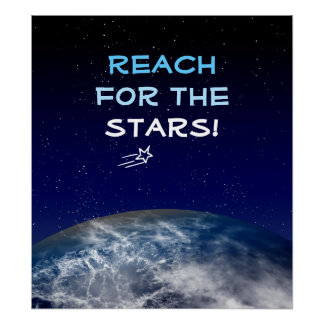 Reach for the Stars Planet Earth Flying Star Print