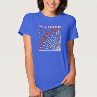 Reach for the Stars Pole Vaulter T-shirt Blue