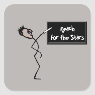 Reach for the Stars Square Sticker