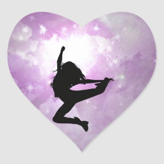 Reach for the stars heart stickers