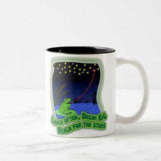 reach for the stars Two-Tone coffee mug