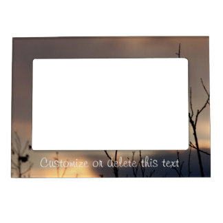 Reach for the Sunset; Customizable Magnetic Picture Frame