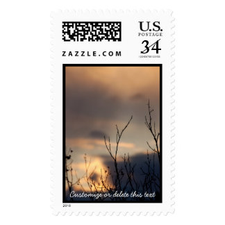 Reach for the Sunset; Customizable Stamp