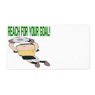 Reach For Your Goal Custom Shipping Label