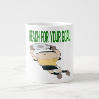 Reach For Your Goal Giant Coffee Mug