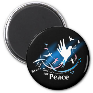Reach Out... For Peace 2 Inch Round Magnet