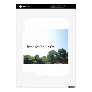 Reach out for the sky decal for the iPad 2