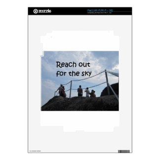 Reach out for the sky iPad 2 decal