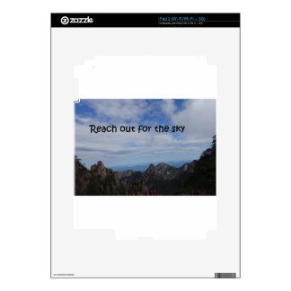 Reach out for the sky iPad 2 decals