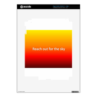 reach out for the sky iPad 2 skin