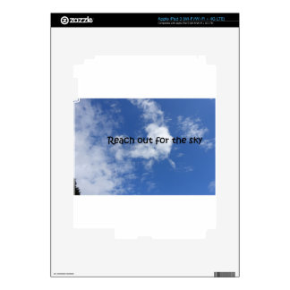 Reach out for the sky iPad 3 decals