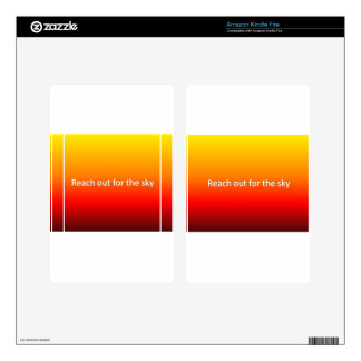 reach out for the sky kindle fire skins