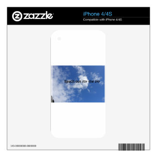 Reach out for the sky skin for iPhone 4S