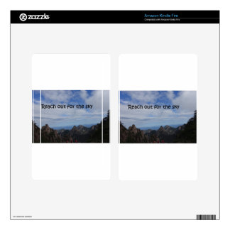 Reach out for the sky skin for kindle fire