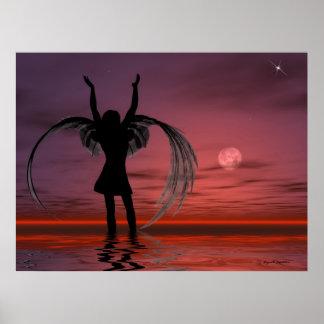 """""""Reach to Me"""" Christian Angel Sunset Faith Print"""