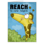 Reach to New Heights Giraffe Card