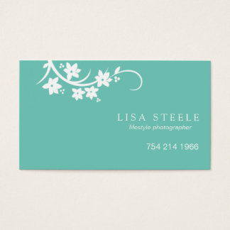 Reaching Flowering Stem Business Card