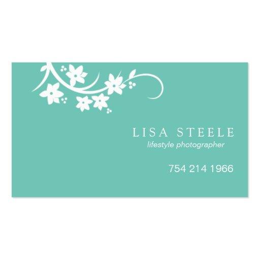 Reaching Flowering Stem Business Card Templates
