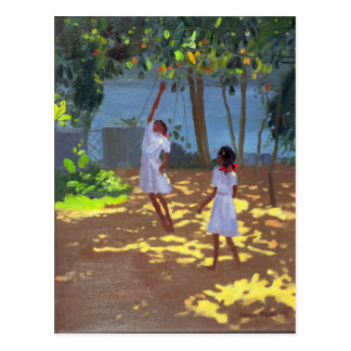 Reaching for Oranges Bentota Sri Lanka 1998 Postcard