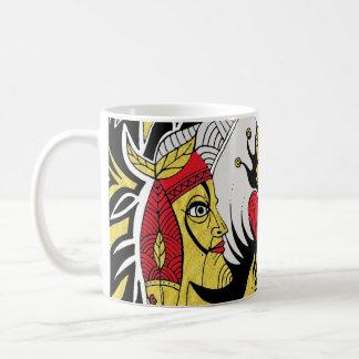 reaching for raven coffee mug