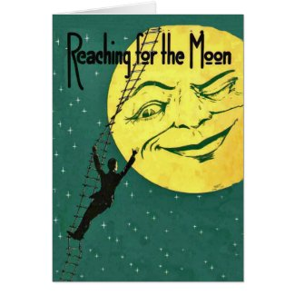 Reaching for the Moon Note Card