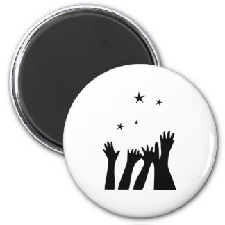 Reaching for the Stars 2 Inch Round Magnet