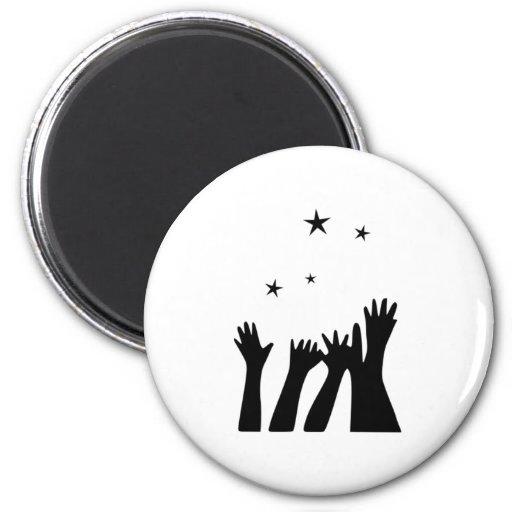 Reaching for the Stars Fridge Magnets