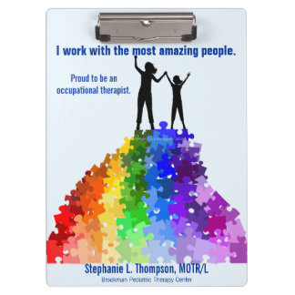 Reaching New Heights, Autism Support  Woman & Girl Clipboard
