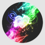 Reaching out for Love Classic Round Sticker