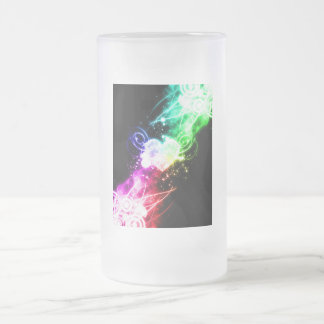 Reaching out for Love Frosted Glass Beer Mug