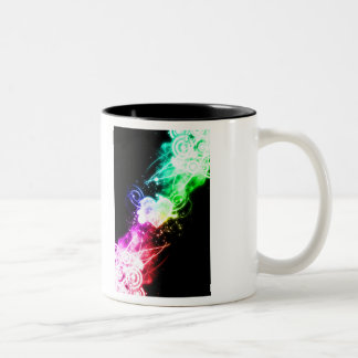 Reaching out for Love Two-Tone Coffee Mug
