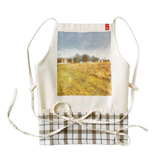 Reaching some trees after a climb zazzle HEART apron