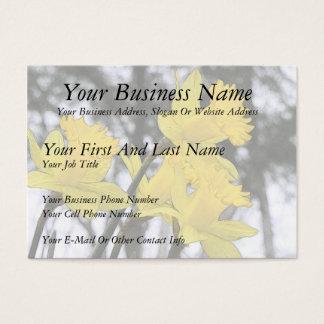 Reaching Upwards - Yellow Daffodils Business Card