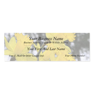 Reaching Upwards - Yellow Daffodils Double-Sided Mini Business Cards (Pack Of 20)