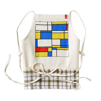 Reactangles abstract design zazzle HEART apron