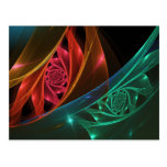 Reaction Abstract Geometric Fractal Postcard