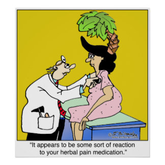 Reaction to Herbal Medication Poster
