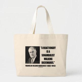 Reactionary Sonambulist Walking Backwards Large Tote Bag